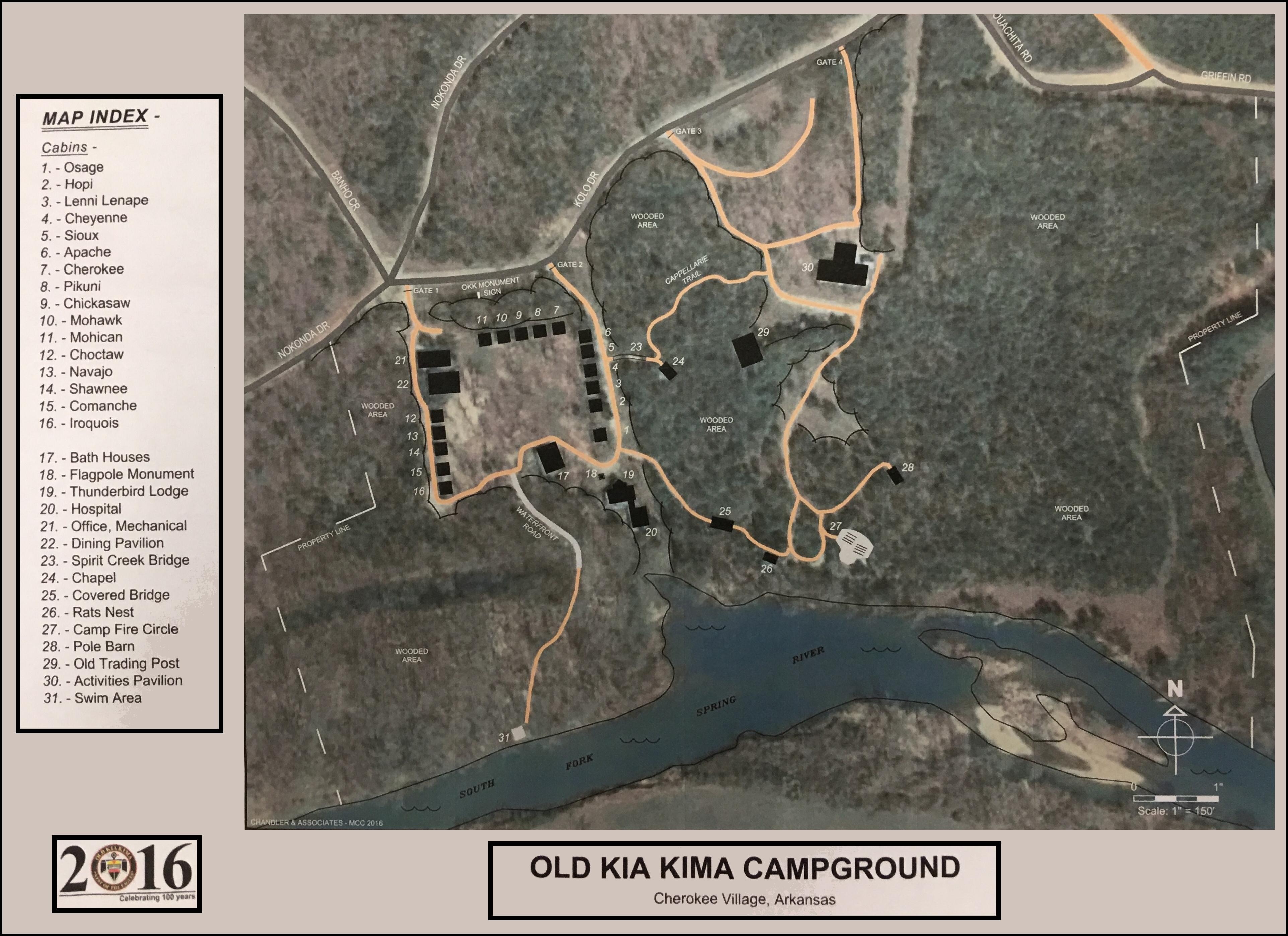 Maps to Old Kia Kima